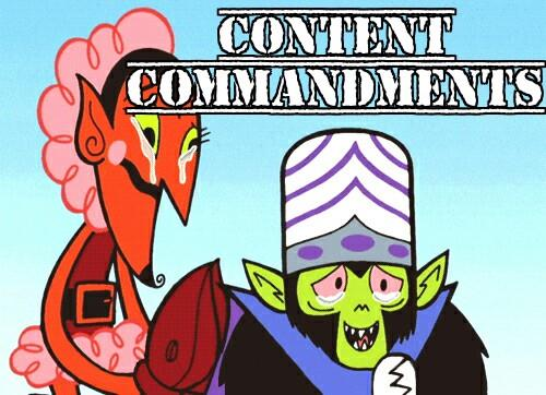 content commandments